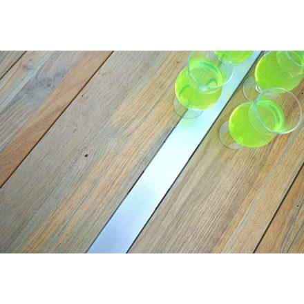 """Zebra Gartentisch """"Trix"""" , Gestell Edelstahl, Tischplatte recyceltes Teak/Old Teak mit Edelstahleinlage"""
