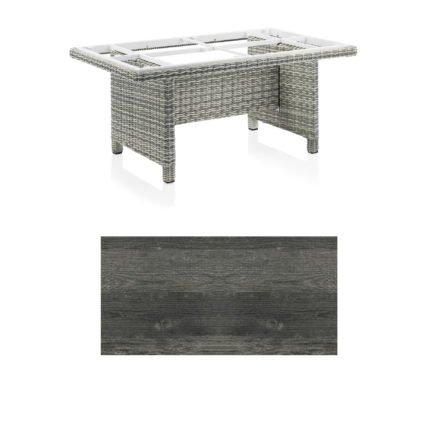 "Kettler Dining-Tisch ""Palma Modular"" 160x95cm, Polyrattan salt-n-pepper, Tischplatte HPL pinie anthrazit"