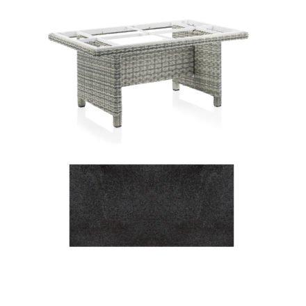 """Kettler Dining-Tisch """"Palma Modular"""" 160x95cm, Polyrattan salt-n-pepper, Tischplatte HPL Stahl"""