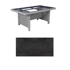 """Kettler Dining-Tisch """"Palma Modular"""" 160x95cm, Polyrattan white-wash, Tischplatte HPL Stahl"""