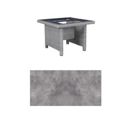 """Kettler Dining-Tisch """"Palma Modular"""" 95x95cm, Polyrattan white-wash, Tischplatte HPL anthrazit"""