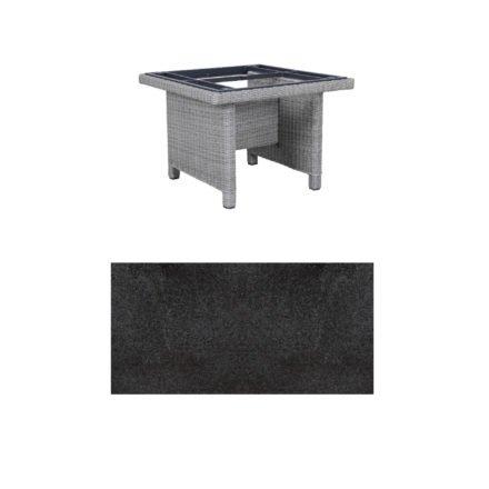 """Kettler Dining-Tisch """"Palma Modular"""" 95x95cm, Polyrattan white-wash, Tischplatte HPL Stahl"""