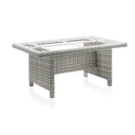 "Kettler HKS ""Palma Modular"" Casual Dining-Tisch, Polyrattan salt-n-pepper, 160x95 cm"
