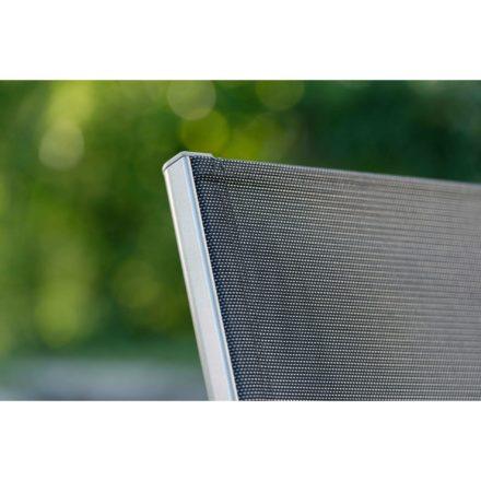 """Balkonklappstuhl """"Nils"""" von Stern, Gestell Aluminium graphit, Textilgewebe silbergrau"""