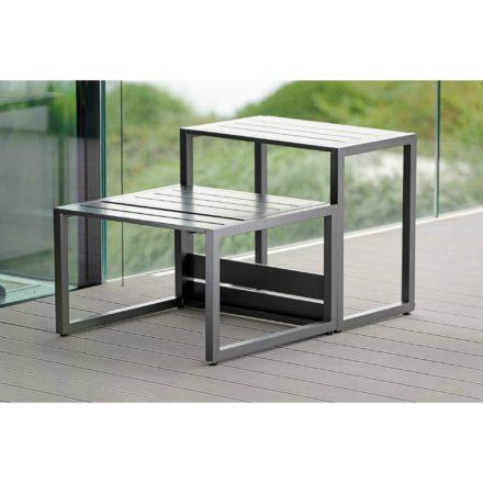 """Beistelltisch """"Novus"""" von Stern, Gestell & Tischplatte Aluminium anthrazit"""