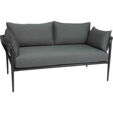 """2-Sitzer Lounge """"Laguna"""" von Stern, Gestell Aluminium anthrazit, Bespannung Kordel anthrazit"""