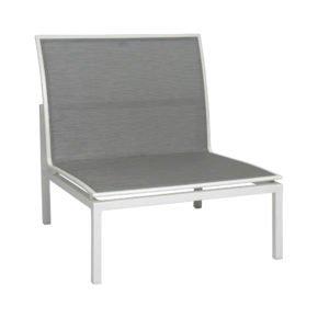 """Stern """"Skelby"""" Mittelelement, Gestell Aluminium weiß, Textilenbezug silber"""