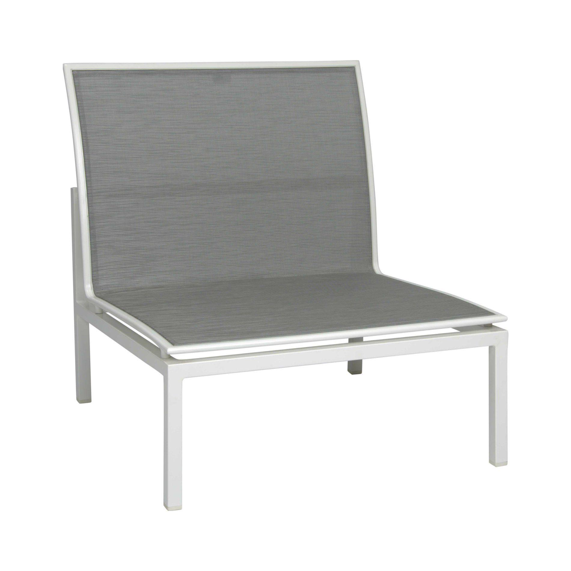 """Mittelelement """"Skelby"""" von Stern, Gestell Aluminium weiß, Textilenbezug silber"""