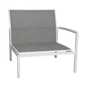 """Stern """"Skelby"""" Seitenelement links, Gestell Aluminium weiß, Textilenbezug silber"""