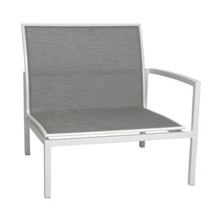 """Seitenelement links """"Skelby"""" von Stern, Gestell Aluminium weiß, Textilenbezug silber"""
