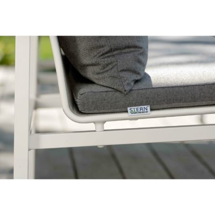 """Loungeserie """"Skelby"""" von Stern, Gestell Aluminium weiß, Textilenbezug silber"""