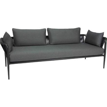 """3-Sitzer Lounge """"Laguna"""" von Stern, Gestell Aluminium anthrazit, Bespannung Kordel anthrazit"""