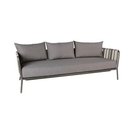 "Stern Loungesofa ""Space"", Gestell Aluminium anthrazit, Textilgewebe grau zweifarbig"