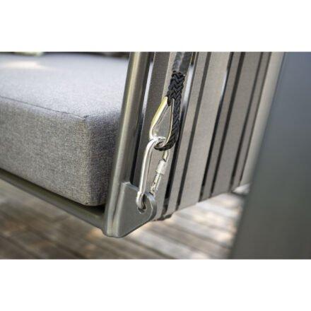 "Stern Schaukel 2-sitzig ""Space"", Aluminium anthrazit, Bespannung Textilgewebe, inkl. Kissenset seidengrau"