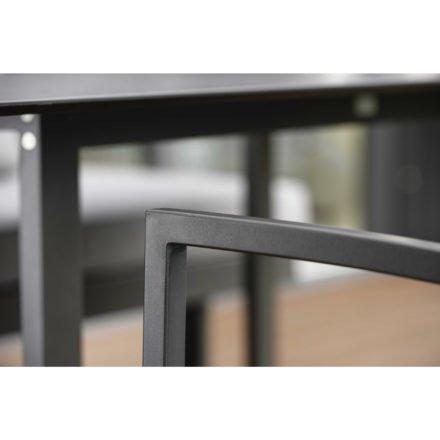 "Stern Stapelsessel ""Skelby"", Gestell Aluminium anthrazit, Sitz & Rücken Textilgewebe karbon"