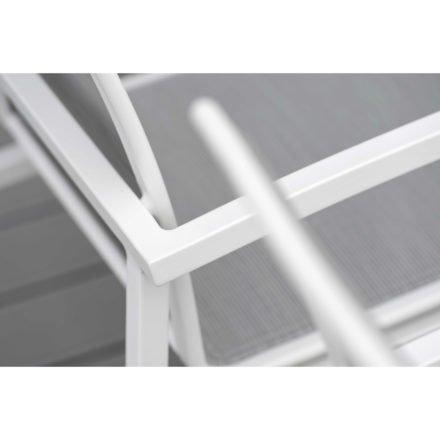 "Stern Stapelsessel ""Skelby"", Gestell Aluminium weiß, Sitz & Rücken Textilgewebe silber"