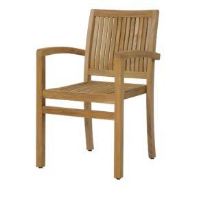 """Zebra Gartenstuhl """"Bueno"""", Gestell sowie Sitz-und Rückenfläche Teakholz"""