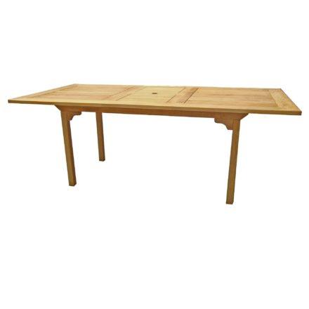 """Zebra Gartentisch """"Brasilia"""", Gestell und Tischplatte Teakholz"""