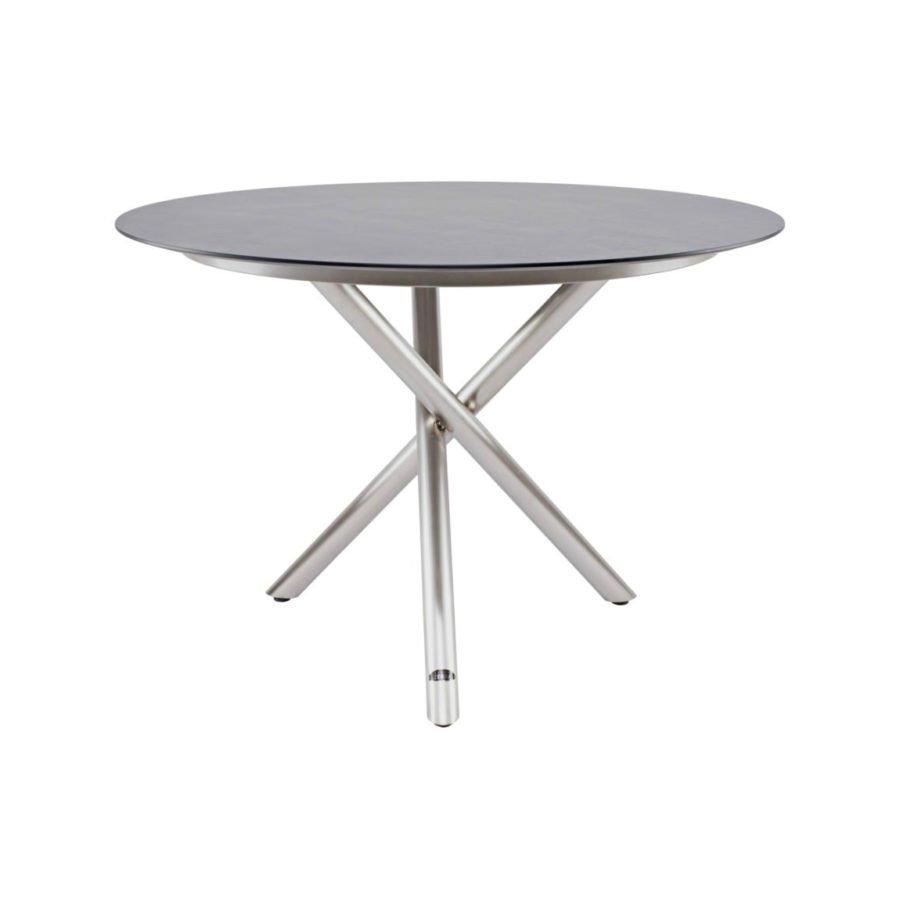 Tischgestell Für Runde Tischplatte.Zebra Mikado Gartentisch Gestell Edelstahl Tischplatte Hpl