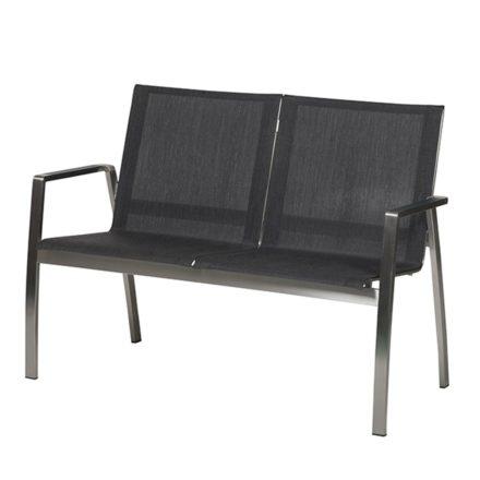 """2-Sitzer Gartenbank """"Ancona"""" von Diamond Garden, Gestell Edelstahl, Bezug Batyline®-Eden Textilenegewebe anthrazit"""