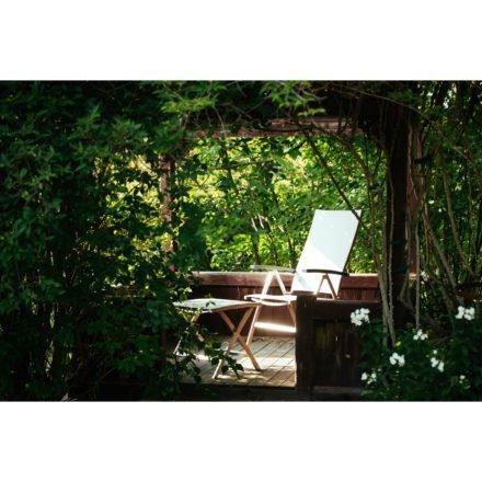 """Diamond Garden """"Ancona"""", Hochlehner und Fußhocker, Gestell Edelstahl, Textilgewebe hellgrau"""