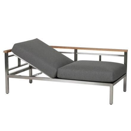 """Diamond Garden """"Gomera"""" Lounge-Seitenteil mit Armlehne links, verstellbare Sitzfläche"""