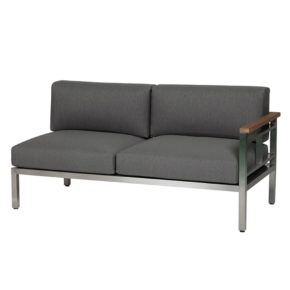 """Lounge-Seitenteil mit Armlehne rechts """"Gomera"""" von Diamond Garden, Farbe: grau"""