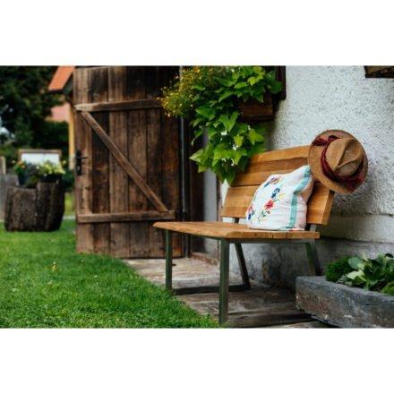 "Diamond Garden ""Pisa"" Gartenbank aus Edelstahl mit reyceltem Teakholz"