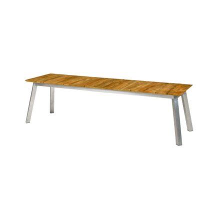 "Zebra ""Linax"" Gartenbank, Gestell Edelstahl, Sitzfläche recyceltes Teakholz, 162 cm"
