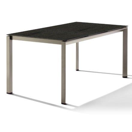 Sieger Tischsystem, Gestell Aluminium champagner, Tischplatte HPL (Polytec) Granit, 160x90 cm