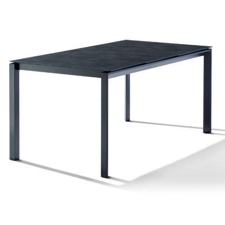 Sieger Tischsystem, Gestell Aluminium eisengrau, Tischplatte HPL (Polytec) Beton dunkel, 160x90 cm