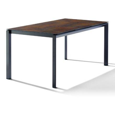 Sieger Tischsystem, Gestell Aluminium eisengrau, Tischplatte HPL (Polytec) Bronze, 160x90 cm