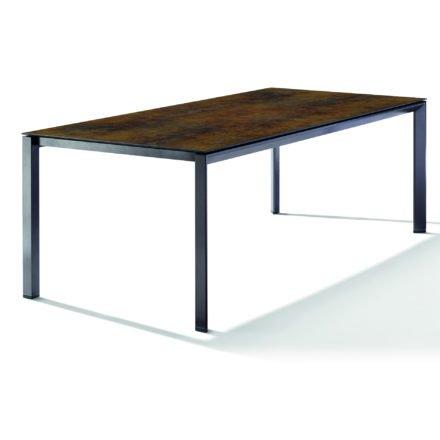Sieger Tischsystem, Gestell Aluminium eisengrau, Tischplatte HPL (Polytec) Bronze, 220x100 cm