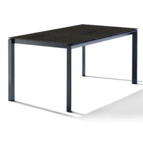 Sieger Tischsystem, Gestell Aluminium eisengrau, Tischplatte HPL (Polytec) Granit, 160x90 cm