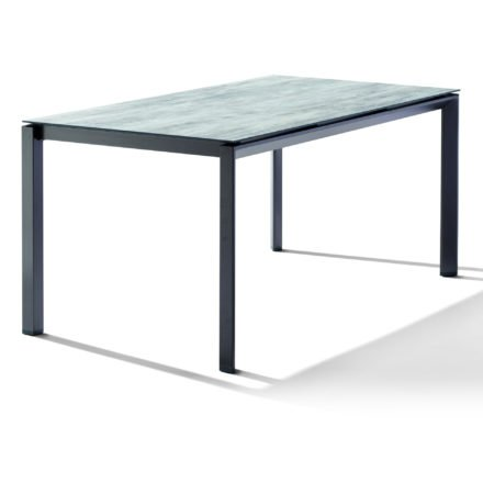 Sieger Tischsystem, Gestell Aluminium eisengrau, Tischplatte HPL (Polytec) Moon, 220x100 cm