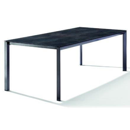 Sieger Tischsystem, Gestell Aluminium eisengrau, Tischplatte HPL (Polytec) Zement anthrazit, 220x100 cm