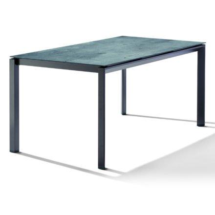 Sieger Tischsystem, Gestell Aluminium eisengrau, Tischplatte HPL (Polytec) Zement graphit, 160x90 cm