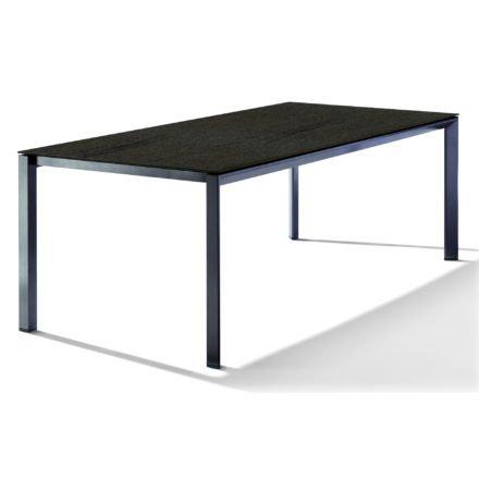 Sieger Tischsystem, Gestell Aluminium eisengrau, Tischplatte HPL (Polytec) Granit, 220x100 cm