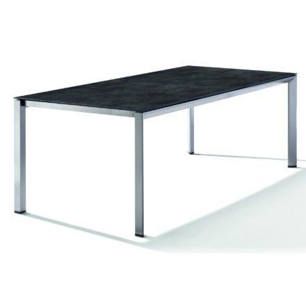 Sieger Tischsystem, Gestell Aluminium graphit, Tischplatte HPL (Polytec) Beton dunkel, 220x100 cm