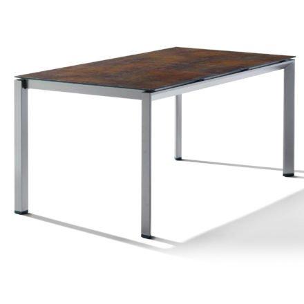Sieger Tischsystem, Gestell Aluminium graphit, Tischplatte HPL (Polytec) Bronze, 160x90 cm