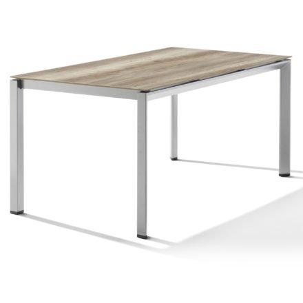 Sieger Tischsystem, Gestell Aluminium graphit, Tischplatte HPL (Polytec) Eiche hell, 160x90 cm