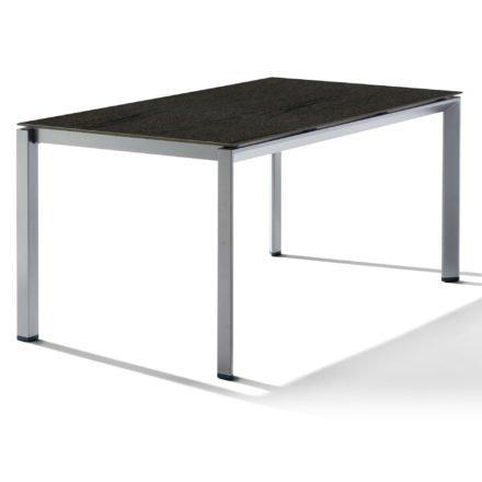 Sieger Tischsystem, Gestell Aluminium graphit, Tischplatte HPL (Polytec) Granit, 160x90 cm