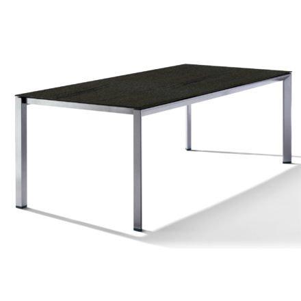 Sieger Tischsystem, Gestell Aluminium graphit, Tischplatte HPL (Polytec) Granit, 220x100 cm
