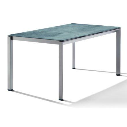 Sieger Tischsystem, Gestell Aluminium graphit, Tischplatte HPL (Polytec) Zement graphit, 160x90 cm