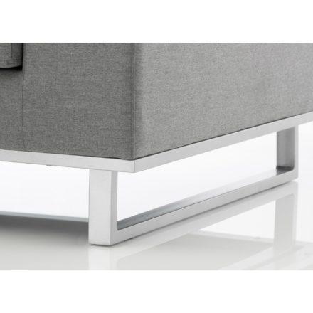 """Kettler """"Ego"""" Lounge-Set, Gestell Aluminium silber, Sunbrella-Stoff flanelle (grau-meliert)"""