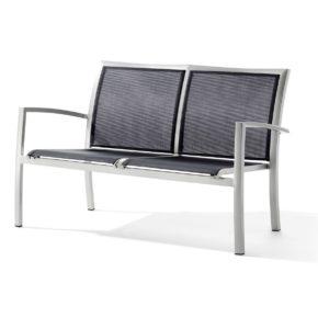 "Loungesessel ""Bastia"" von Sieger, Aluminiumgestell graphit, Textilgewebe grau"