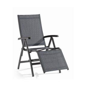 "Relaxliege ""Bodega"" von Sieger, Gestell Aluminium, Gestell eisengrau, Textilgewebe silbergrau"