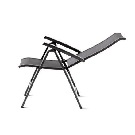 """Sieger Klappsessel """"Calvi"""", Gestell Aluminium eisengrau, Sitz- und Rückenfläche aus Textilgewebe grau"""