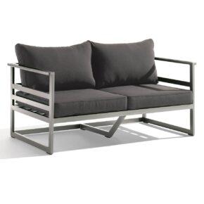 """Loungesofa """"Melbourne"""" von Sieger, Gestell graphit, Gewebe grau"""