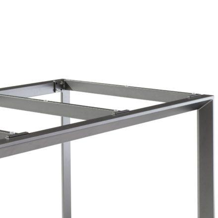 Sieger Tischsystem Aluminium/Teakholz, Gestellfarbe eisengrau